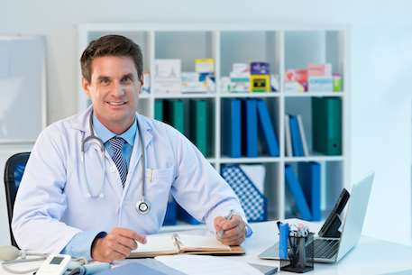 Cheeful family doctor