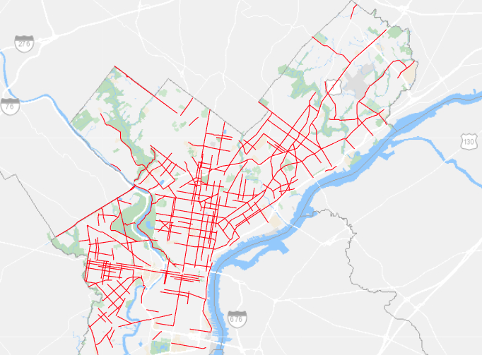 map of the greater Philadelphia area